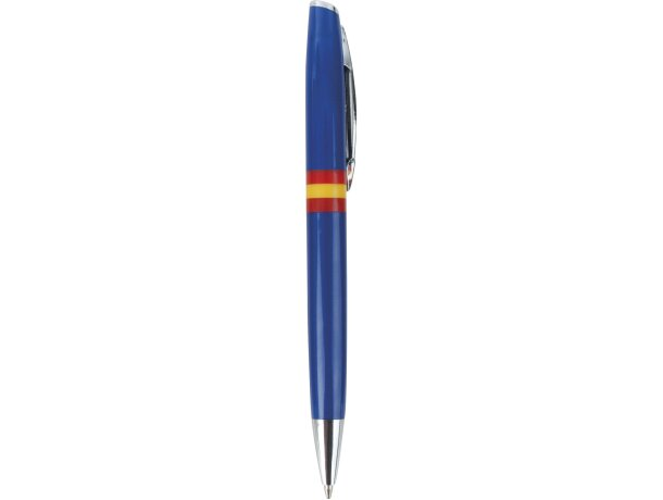 Bolígrafo de plástico con bandera española personalizado azul
