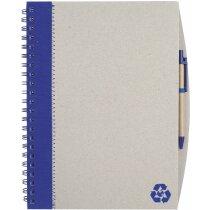 Libreta A4 en cartón reciclado con boligrafo azul original