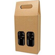 Caja de cartón para 2 botellas personalizada