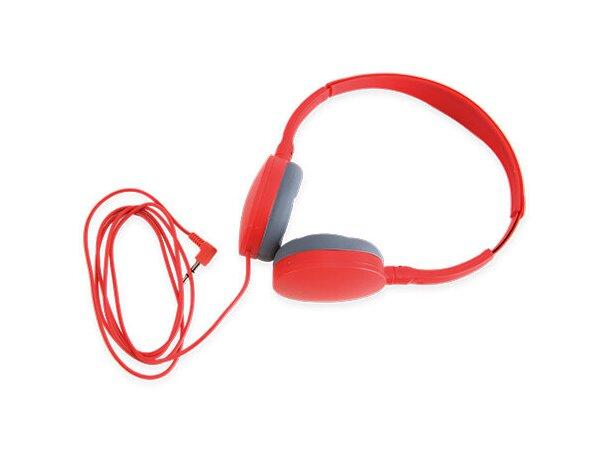 Auriculares ajustables rojo