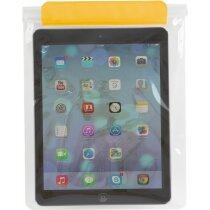 Funda resistente al agua para tablet con logo amarilla