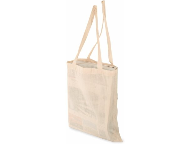 Bolsa de algodón orgánico con asas largas