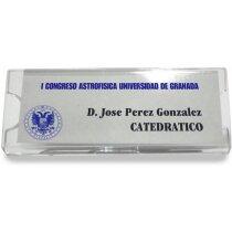 Identificador con forma rectangular personalizado