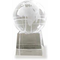 Bolsa del mundo de cristal personalizado mediana personalizada