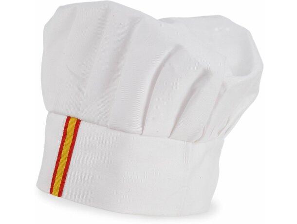Gorro de algodón de cocina en varios colores blanco bandera