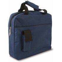 Maletín con bolsillo portamóvil personalizado azul marino