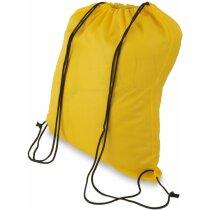 Bolsa mochila con cordones económica amarilla personalizado