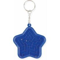 Llavero estrella laberinto personalizado azul