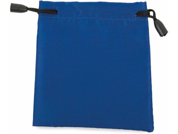 Bolsa de microfibra con cordón de cierre azul