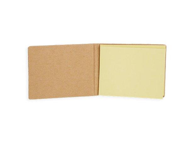 Carterita de notas adhesivas con tapas de corcho barato