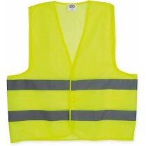 Chaleco de poliester de alta visibilidad personalizado amarillo