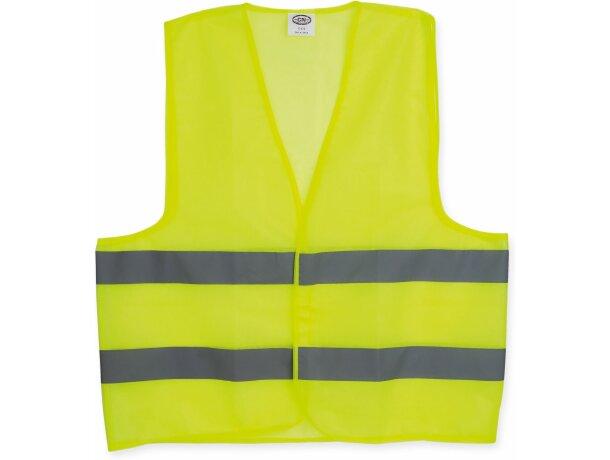 Chaleco de poliester de alta visibilidad amarillo barato