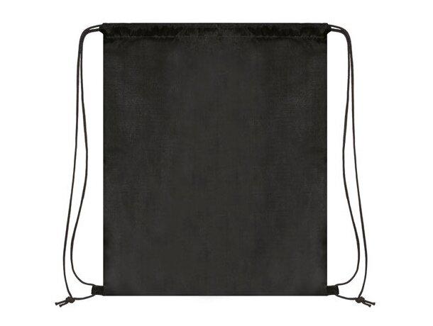 Bolsa mochila con cordones económica negro