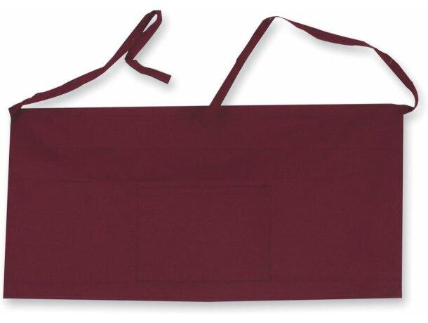 delantal de cintura de camarero en algodón personalizado burdeos