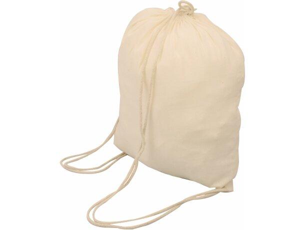 e93fb29a6 Bolsa mochila de algodón de color crudo crudo