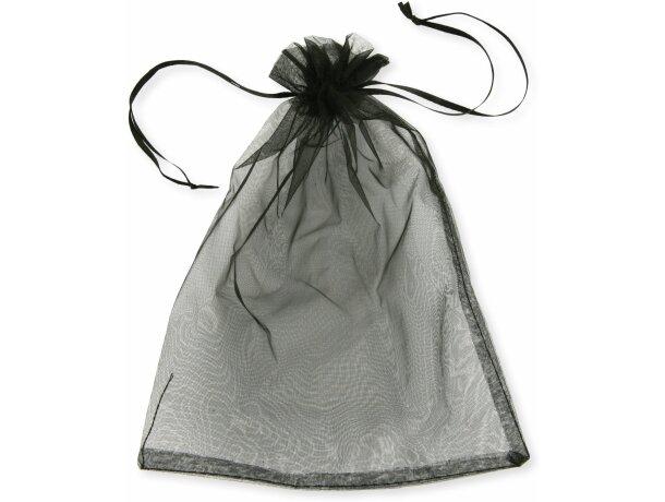 Bolsa de regalo de material organza negra