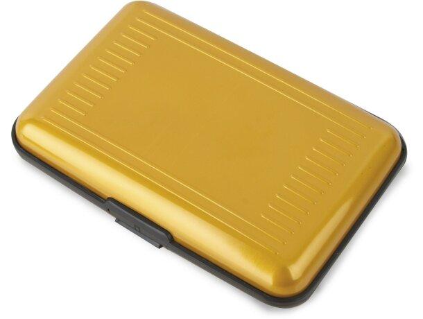 Tarjetero interior de acordeón de aluminio lacado personalizado amarillo