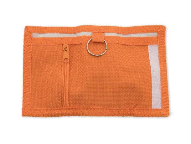 Monedero con llavero especial para moteros naranja