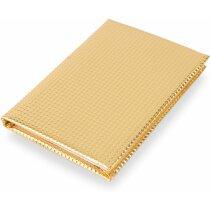 Libreta de 70 hojas con tapas en oro o plata oro