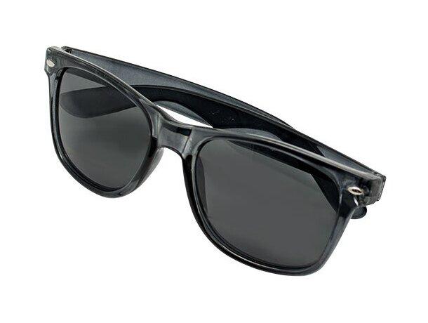 Gafas de sol transparentes negro