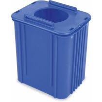 Portalápiz contenedor azul ecológico personalizado