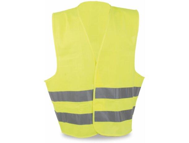Chaleco de poliester reflectante amarillo personalizado