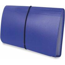 Carpeta clasificadora de recibos en plástico de colores azul
