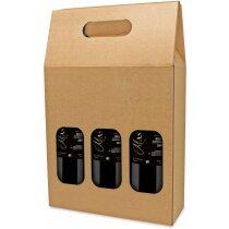 Caja De Carton Para 3 Botellas