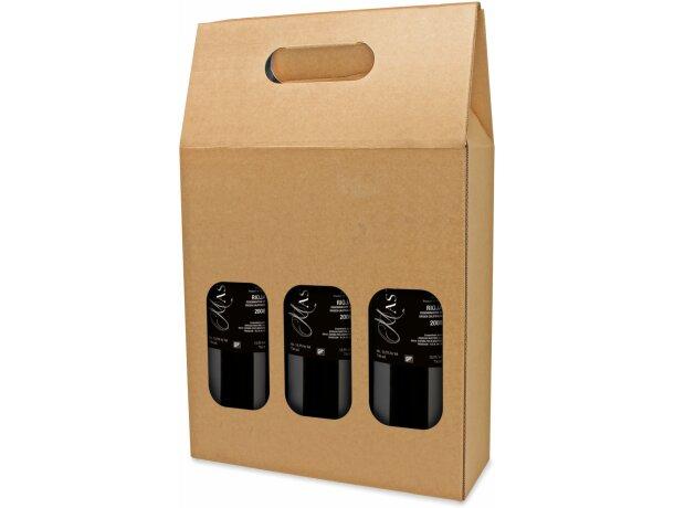 Caja de cartón para 3 botellas