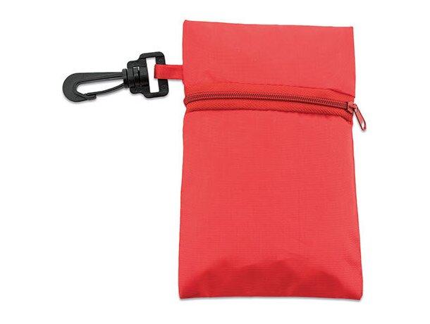 Bolsa plegable con cremallera y funda merchandising rojo