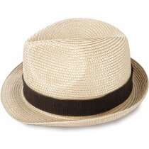 Sombrero grueso de paja ala corta personalizado claro