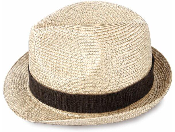 Sombrero grueso de paja ala corta personalizado claro 635be523fea