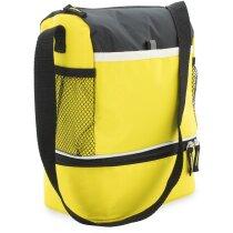 Nevera con asa y bolsillos con logo amarilla