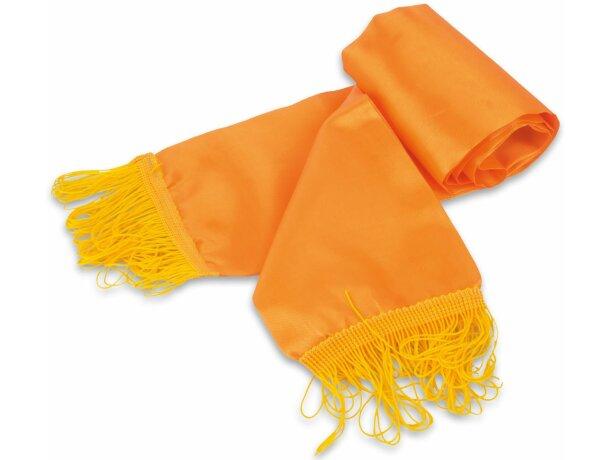 Bufanda con flecos de colores personalizada naranja