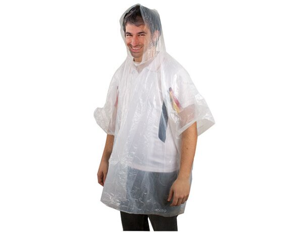 Poncho de lluvia plegado barato negro