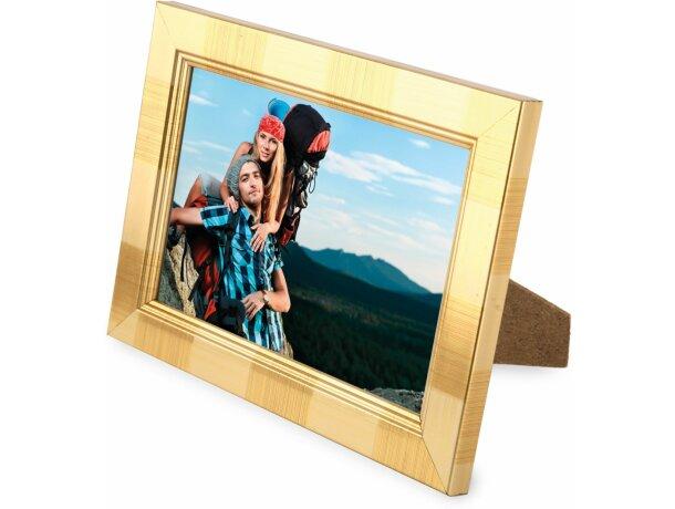 Portafotos de madera 10x15 cm personalizado oro