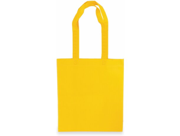 Bolsa non woven con asas largas resistentes amarilla