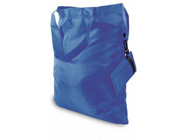 Bolsa con cremallera personalizada azul