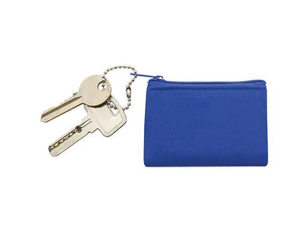 Monedero con cadena azul