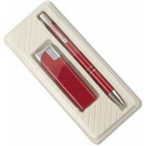 Estuche para bolígrafo y encendedor de plástico personalizado crudo