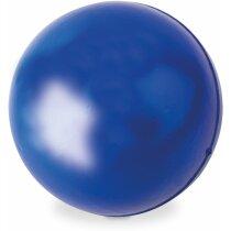 Pelota antiestrés de plástico pu personalizada azul