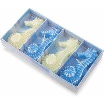 Set de velas con forma de caballito de mar personalizado