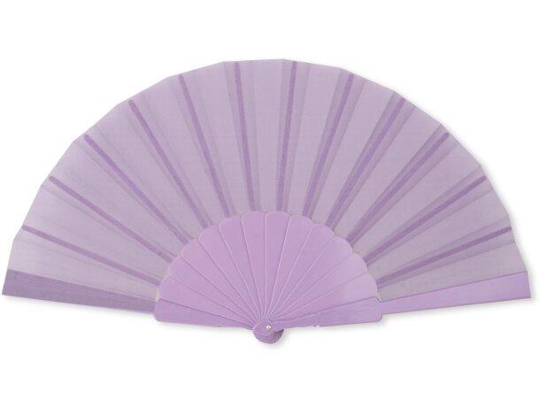 Abanico de plástico de varios colores personalizado lila