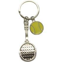 Llavero metálico raqueta de tenis