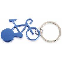 Llavero con forma de bici de aluminio azul
