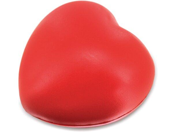 Pelota antiestres con forma de corazón blanco