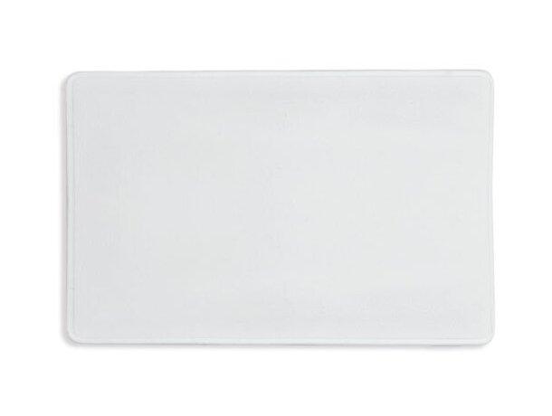 Funda portatarjetas simple blanco
