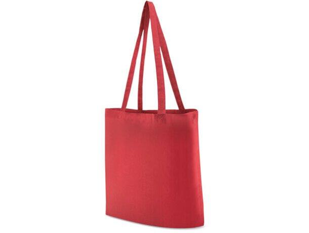 Bolsa de tela promocional para publicidad de empresas personalizado rojo