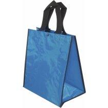Bolsa de la compra brillante barata azul