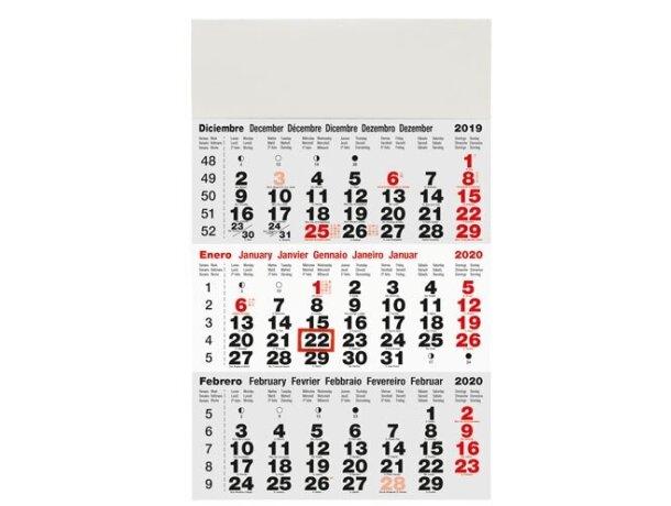 Calendario Trimestral De Pared económio